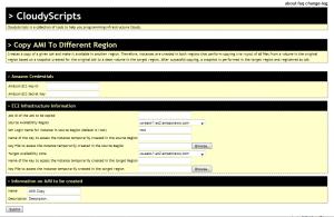CloudyScripts GUI for Amazon EC2 Copy AMI