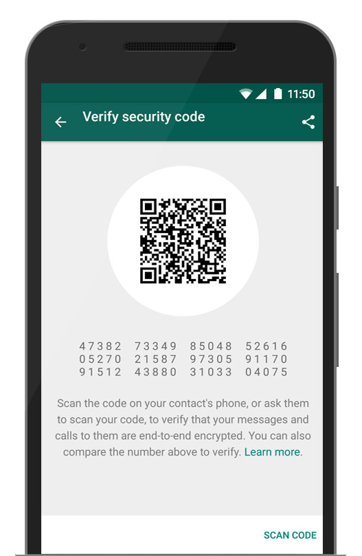 whatsapp security qr code